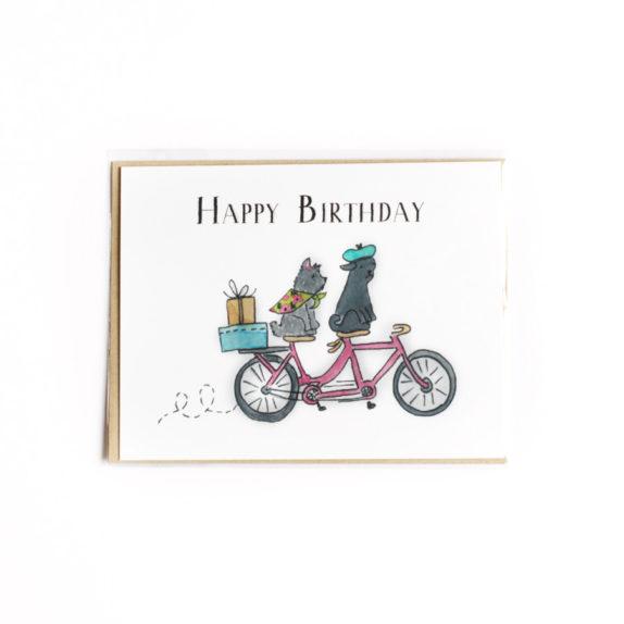 Tandem birthday card