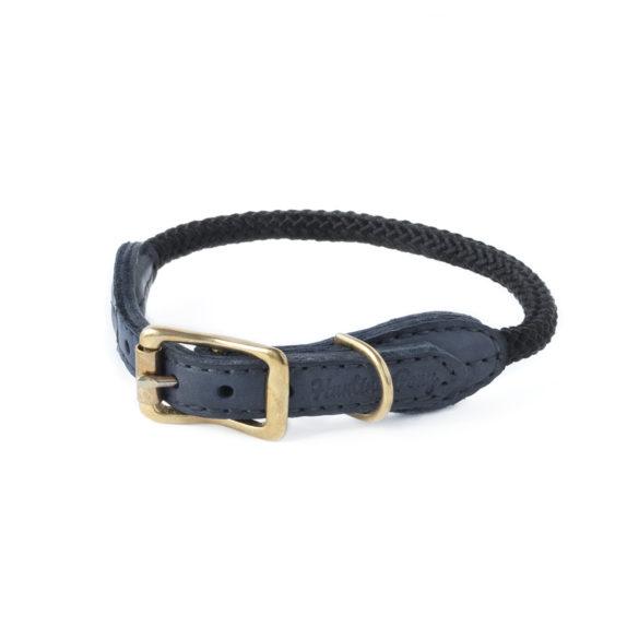 Schwarz Kordel Hundehalsband