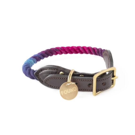 Cosmic storm rope dog collar
