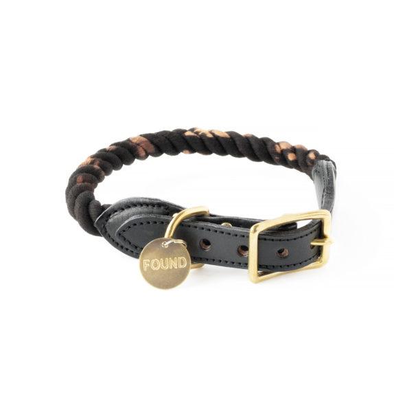 Galaxy rope dog collar