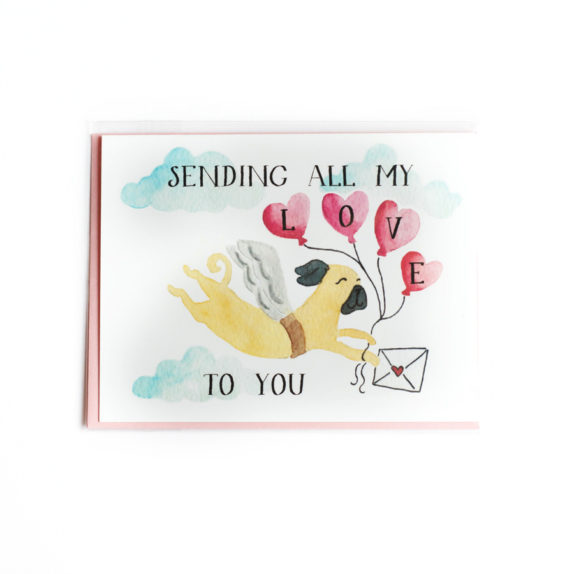 Sending love to you card