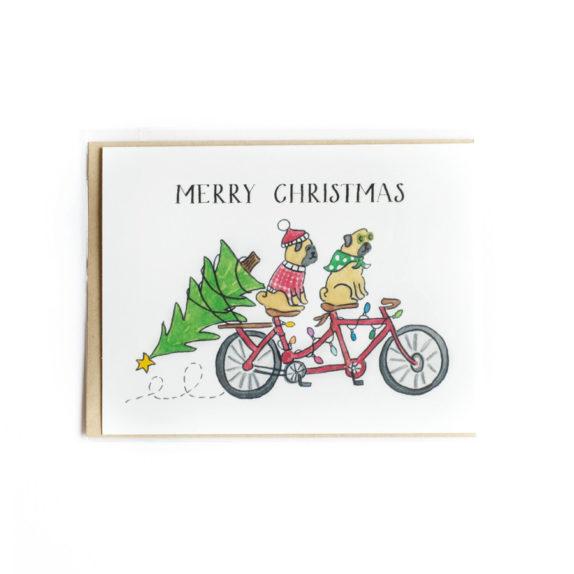 Tandem christmas card