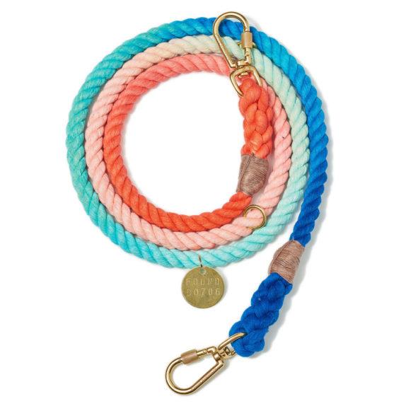 Sweat pea rope leash, adjustable