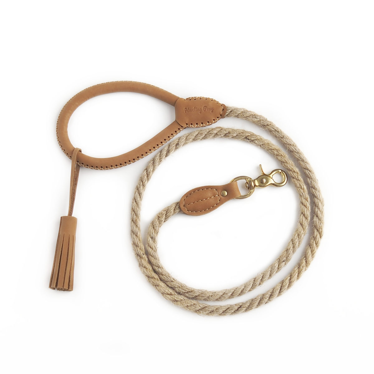 Country style rope dog lead