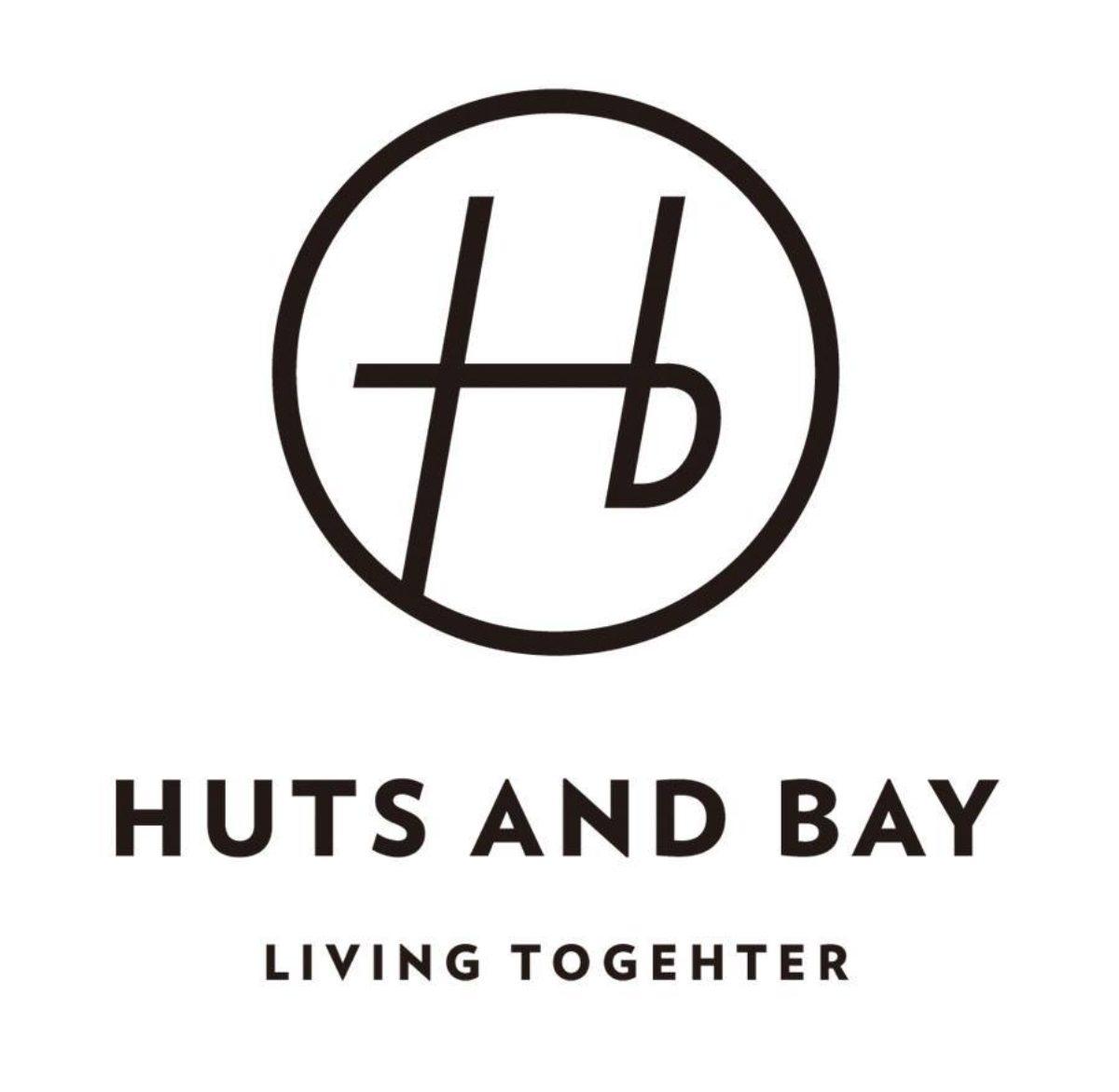 Huts and Bay Logo