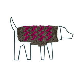 Handknit Dogstooth Sweater